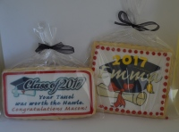 personalized graduation cookies